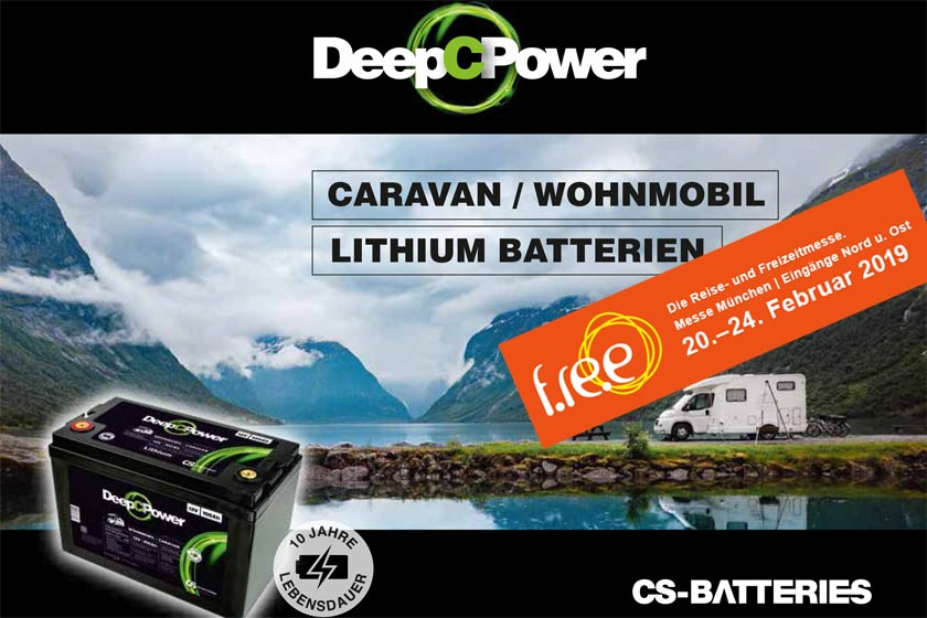 Caravan/Wohnmobil Lithium Batterien Messe München 2019