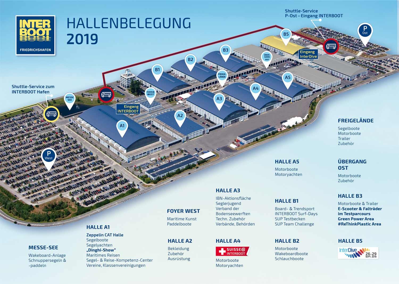 Hallenbelegung Interboot 2019 Friedrichshafen