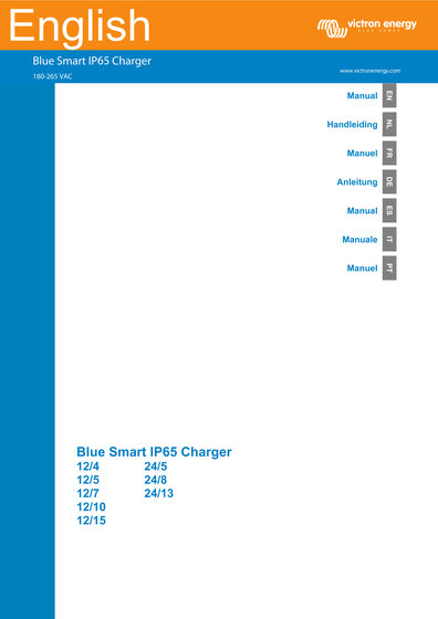 Click here for the Manual of the Victron Blue Smart IP65 Charger