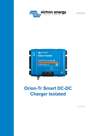 Click here for the Manual of the Victron Orion-TR Smart Converter